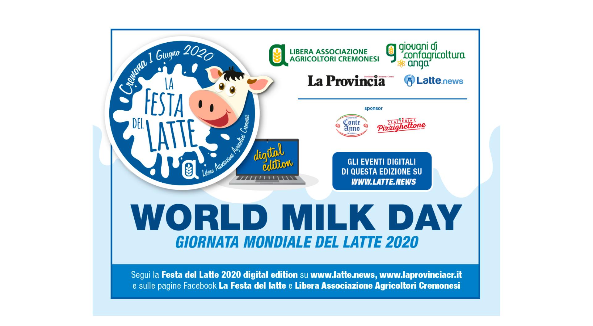 Quest'anno a Cremona La Giornata Mondiale del Latte si fa Digital